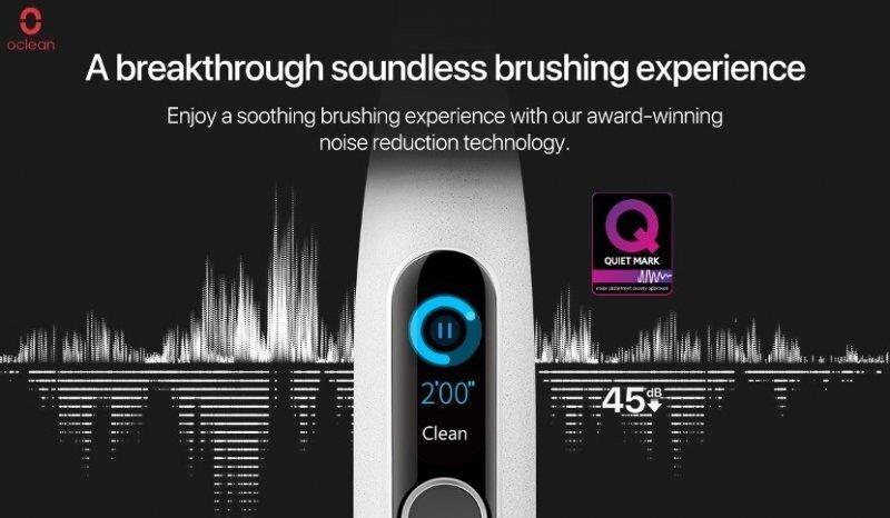 Первая в мире умная электрическая зубная щетка с сертификатом Quiet Mark - Oclean X Pro Elite