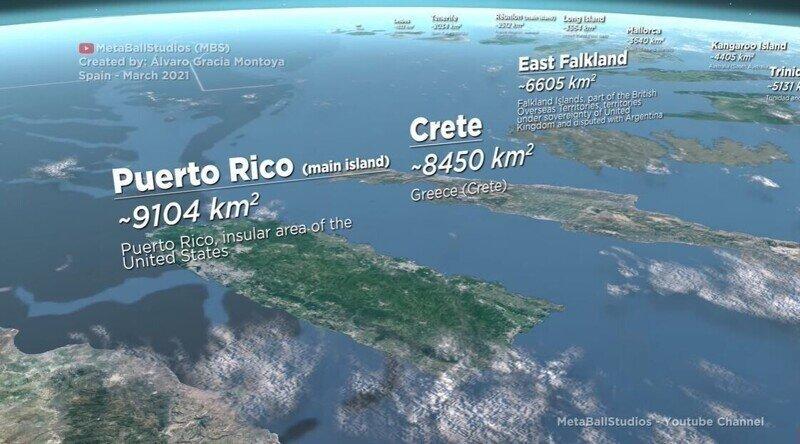 Размеры островов в 3D