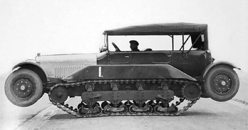 "История автомобиля-вездехода Wolseley-Vickers ""Wheel-Cum-Track"", 1926 год"