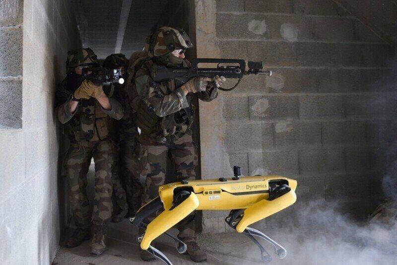 Французская армия протестировала робопса Boston Dynamics. Он «спас» солдата от смерти