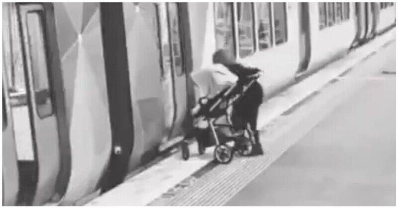 Мужчина выручил невнимательную мамашу, забывшую про своего ребенка