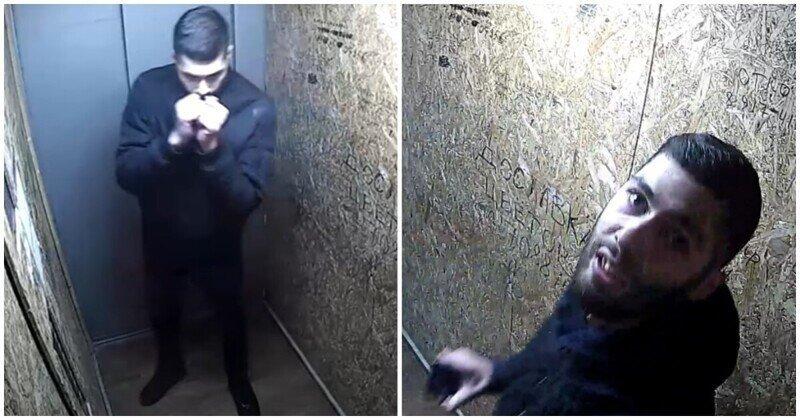 Буйный бородач против уфимского лифта