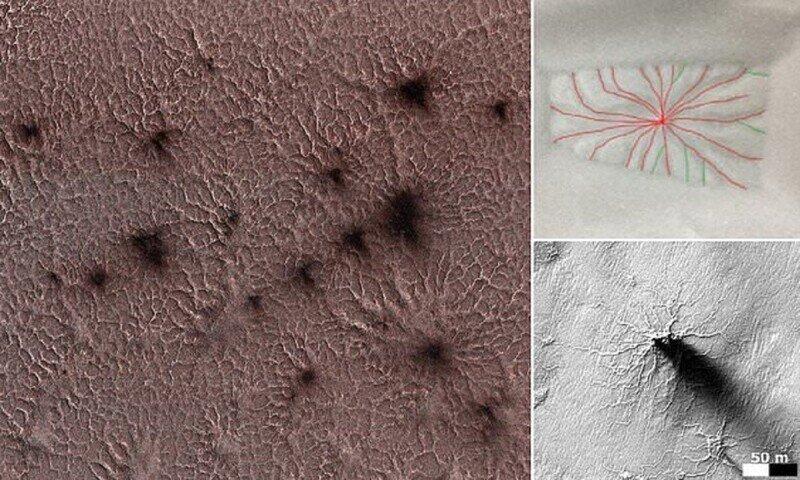 Ученые объяснили происхождение марсианских пауков
