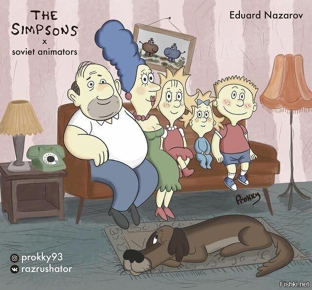 Симпсоны в стиле :