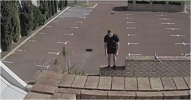 Полицейские разыскивают любителя паркура после его неудачного прыжка