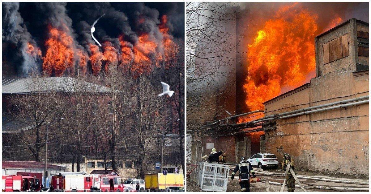 К тушению пожара на Октябрьской набережной в Петербурге привлекли армию