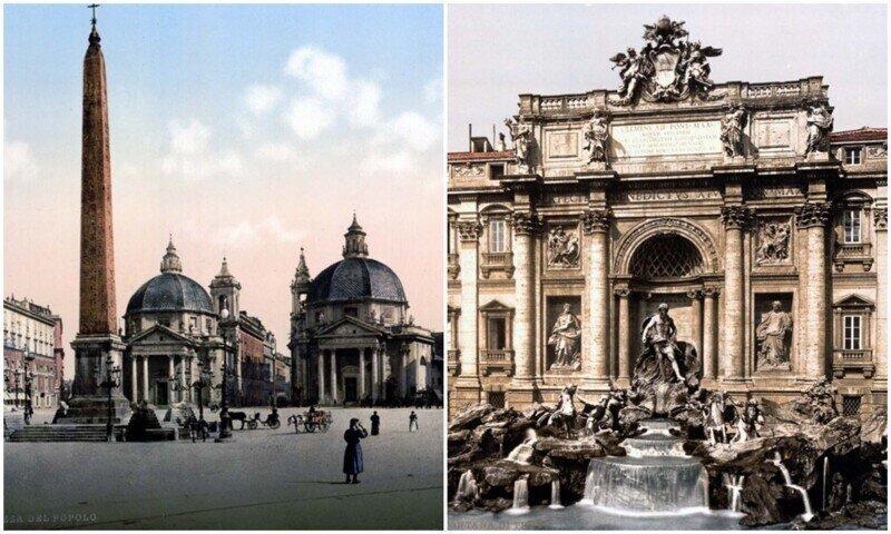 Вечный город: редкие раскрашенные снимки Рима 1890-х годов