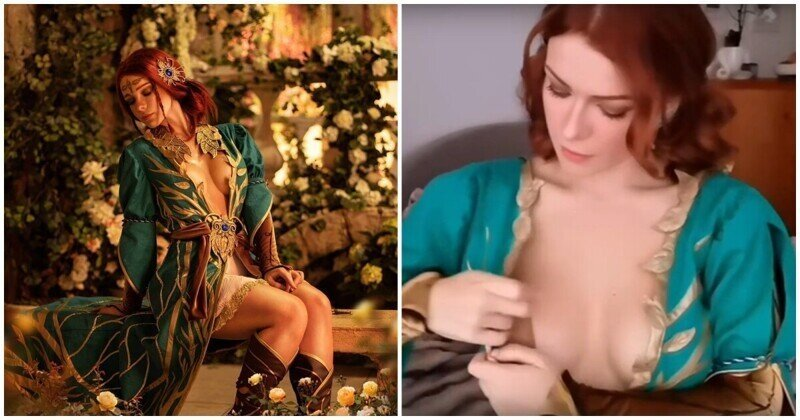 Как любительницы косплея закрепляют платье на груди