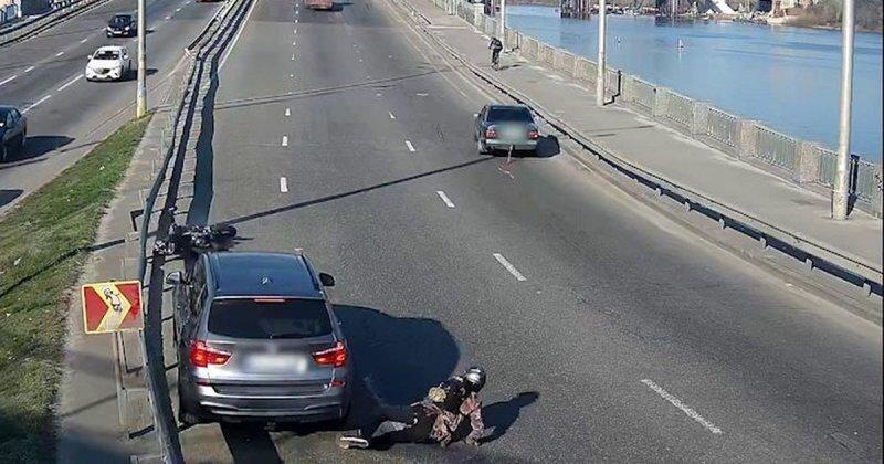 Буксировка мотоцикла прошла не по плану