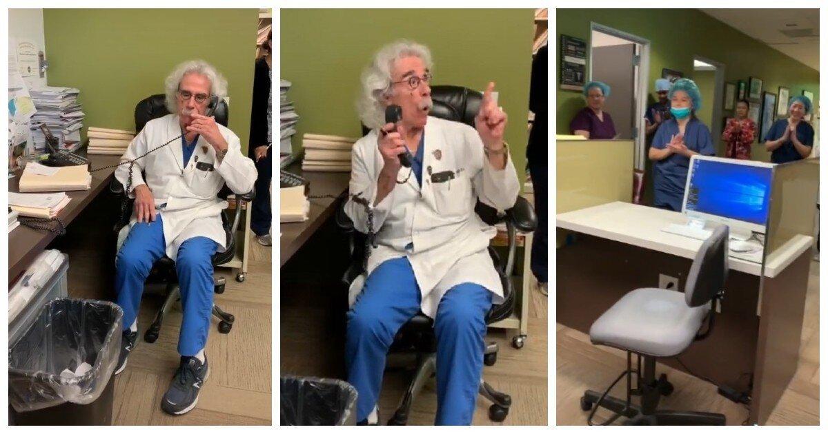 Трогательное видео: Альберт Эйнштейн во главе клиники поздравляет пару с беременностью