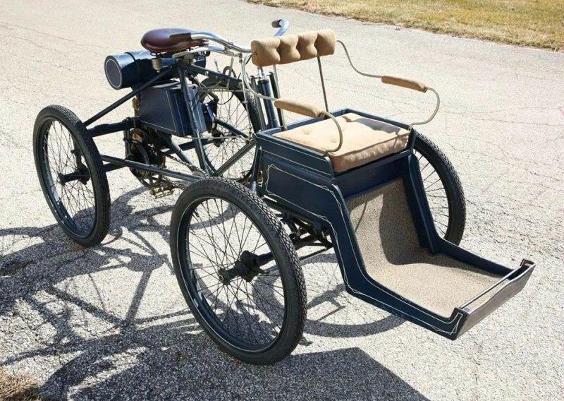Двухместный «квадроцикл» 1900 года, сохранившийся в единственном экземпляре