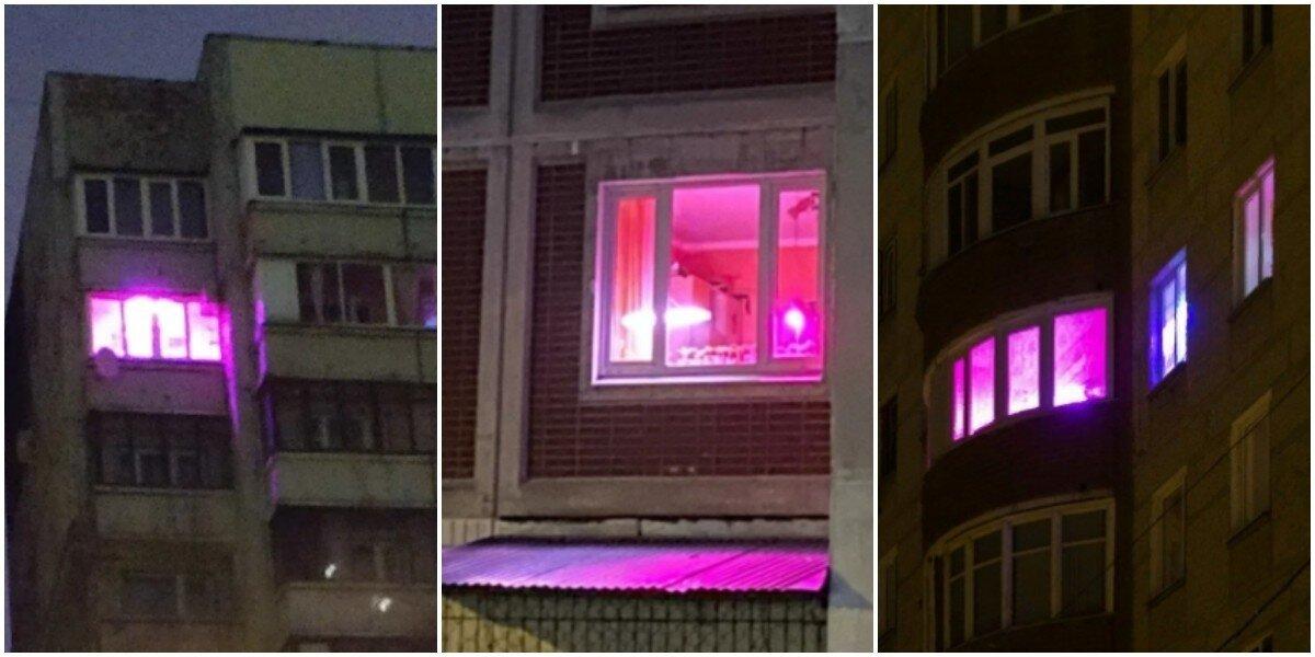 Загадочные фиолетовые окна в домах россиян: зачем люди включают этот яркий свет?