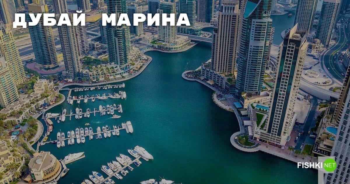 Дубай Марина — самая большая в мире искусственная пристань для яхт