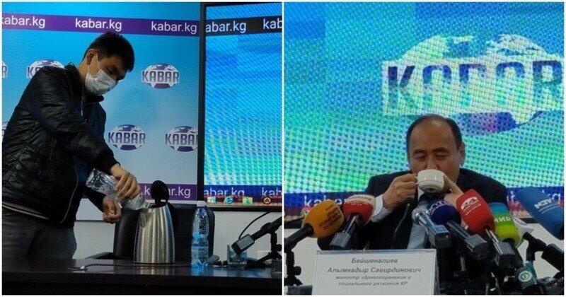 Глава Минздрава Киргизии выпил ядовитый отвар в рамках борьбы с COVID-19