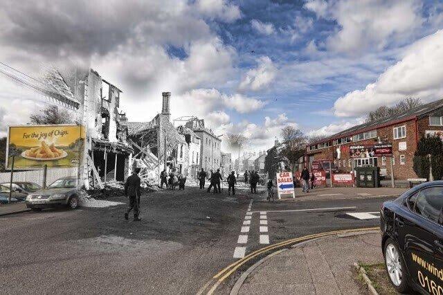 Как изменился британский город Норидж со времен его бомбардировки немецкими Люфтваффе