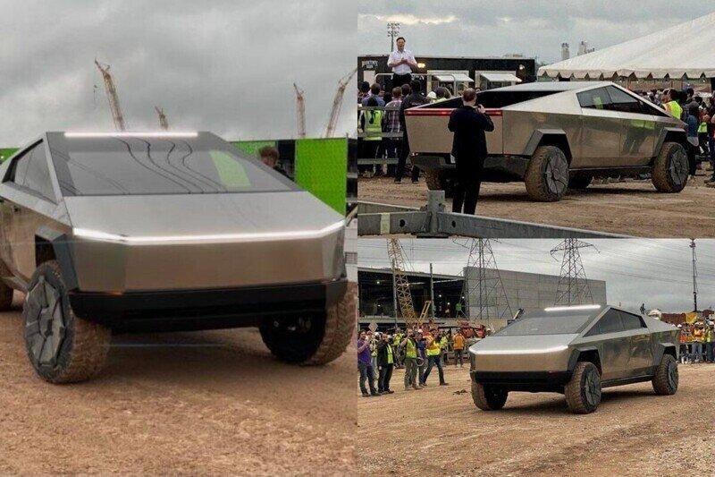 Илон Маск проинспектировал строящийся завод Tesla в Техасе, приехав туда на пикапе Cybertruck