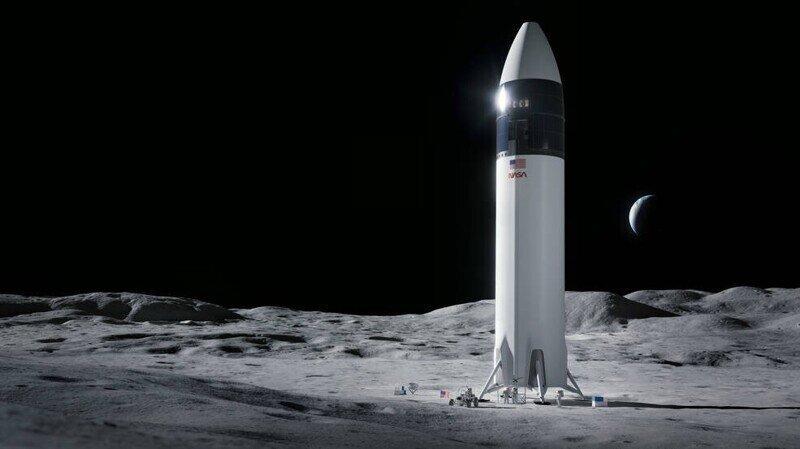 В рамках продвижения проекта Артемида, НАСА выбрала SpaceX для следующей высадки американцев на Луну