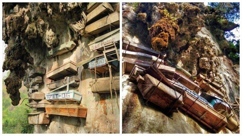 Висячие гробы Сагады: филиппинская деревня, в которой мертвых хоронят на скалах