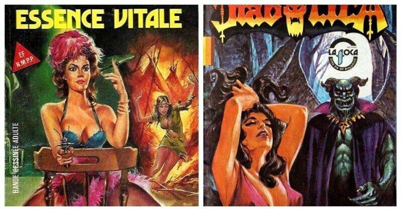 Эстетика 80-х в обложках винтажных комиксов для взрослых
