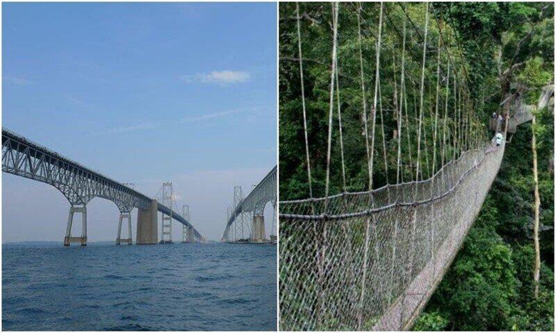 10 самых опасных и захватывающих мостов со всего мира