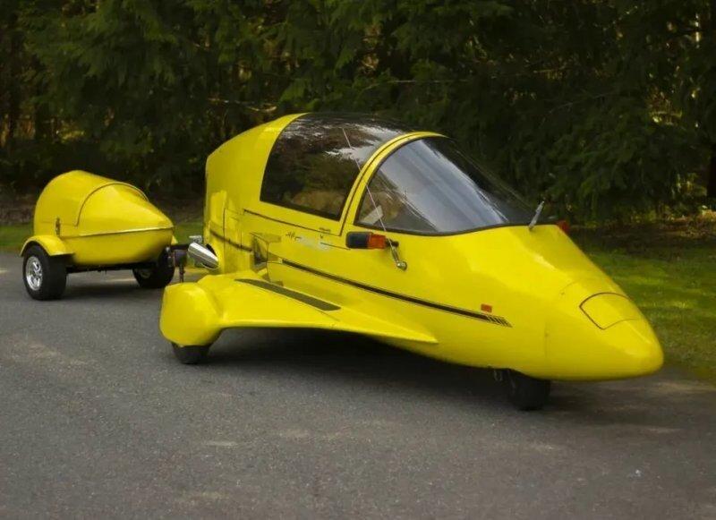 Pulse Autocycle — необычный мотоцикл, прозванный «дорожным самолётом»