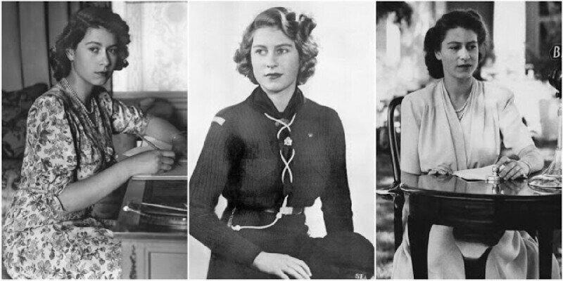 20 черно-белых портретов королевы Елизаветы II в молодости, 1940-е годы