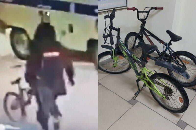 Якутские полицейские забрали из подъезда велосипеды и объяснили это заботой о бесхозных вещах
