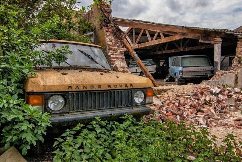 В Нидерландах обнаружили «кладбище» заброшенных Range Rover и Mercedes-Benz