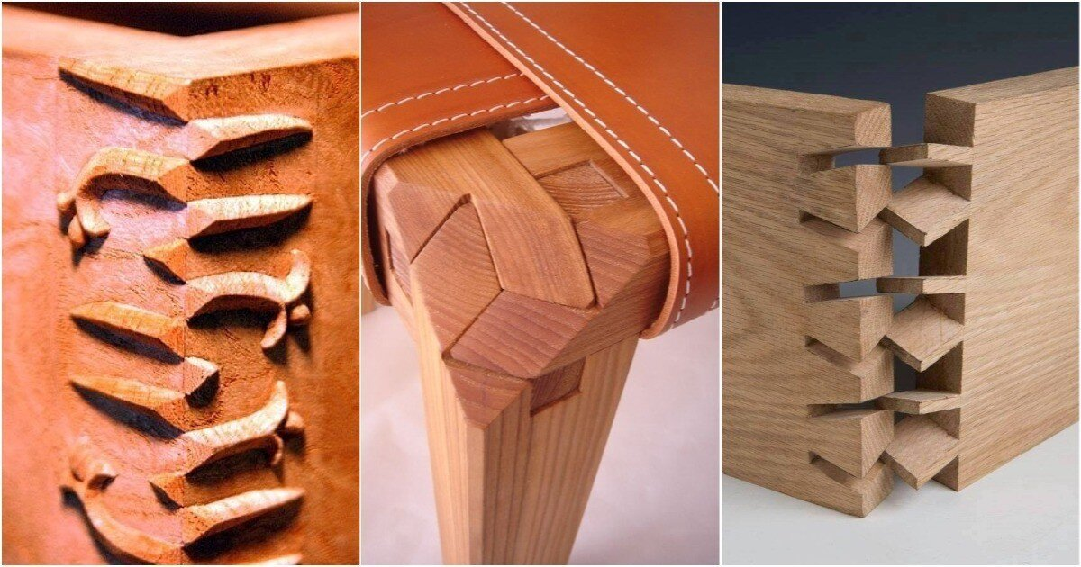 Столярное искусство: 25 невероятных деревянных соединений