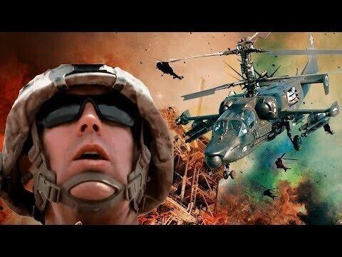 Российский вертолёт Ка-52 пролетел над американской военной базой, угрожая открыть огонь