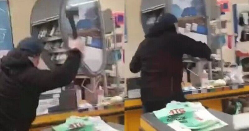 Житель Мариуполя разнес супермаркет, в котором у его жены возник конфликт из-за маски