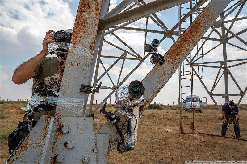 Как снимают взлет ракеты на Байконуре