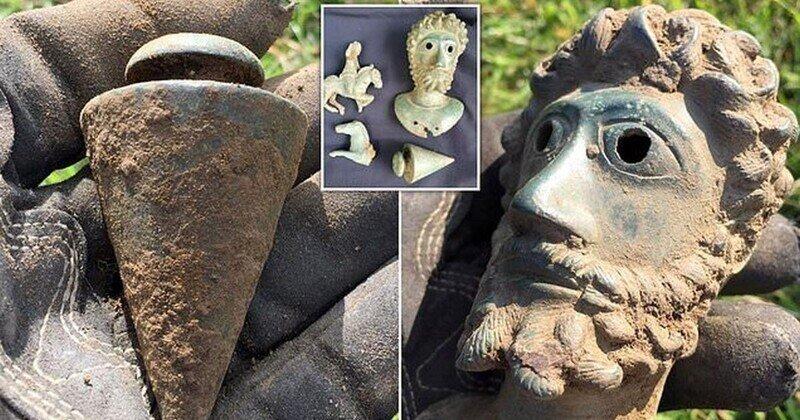 В Великобритании найден идеально сохранившийся бюст римского императора