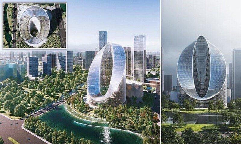 Китайцы строят башню в форме бесконечности