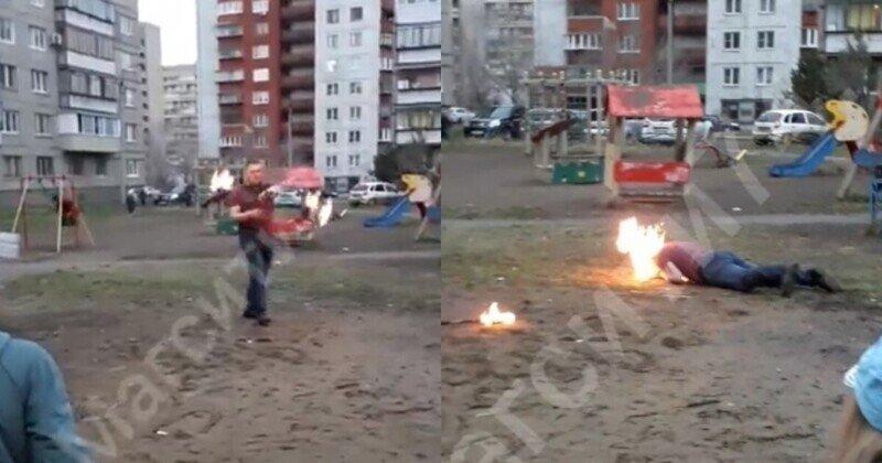 В Магнитогорске артист фаер-шоу чуть не сгорел, показывая трюк