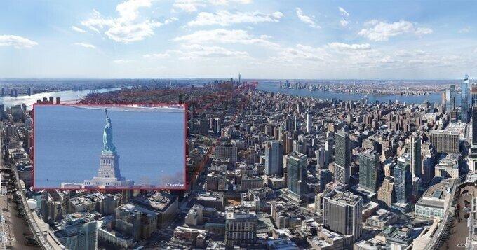 Опубликована самая детальная фотография Нью-Йорка разрешением в 120 гигапикселей