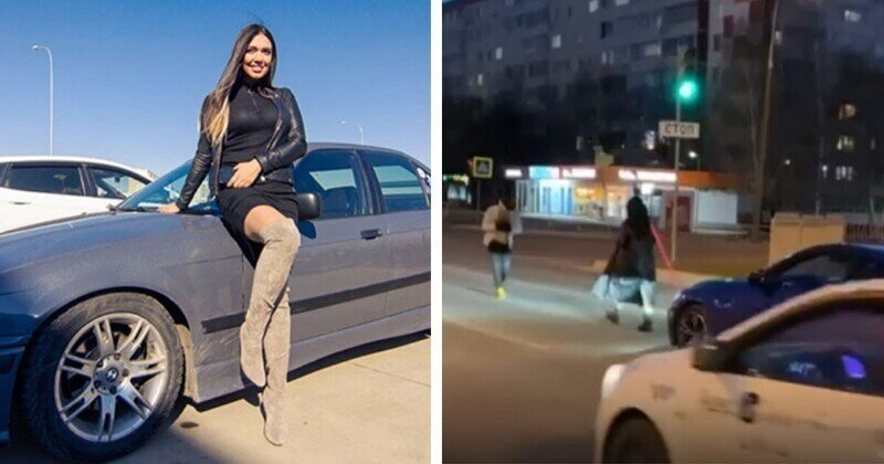 Очередную блогершу наказали за съемки ролика посреди проезжей части