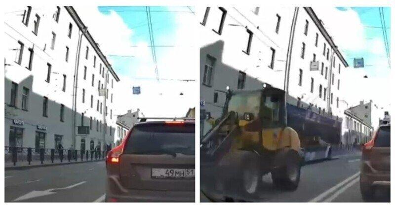 """Как тракторист """"водятла"""" правилам дорожного движения учил"""