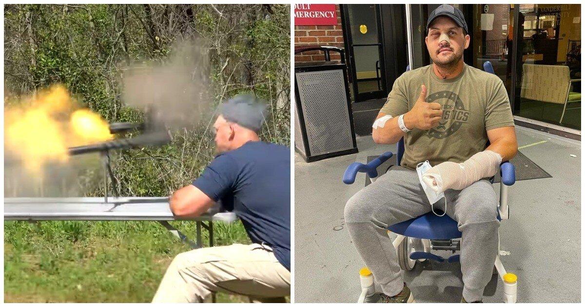 У оружейного блогера в руках взорвалась крупнокалиберная винтовка