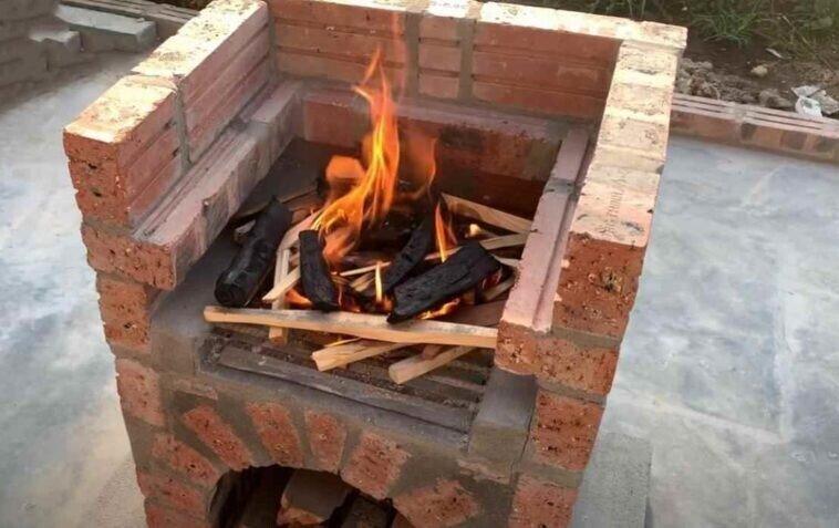 Сделал на даче стационарную печь-мангал своими руками