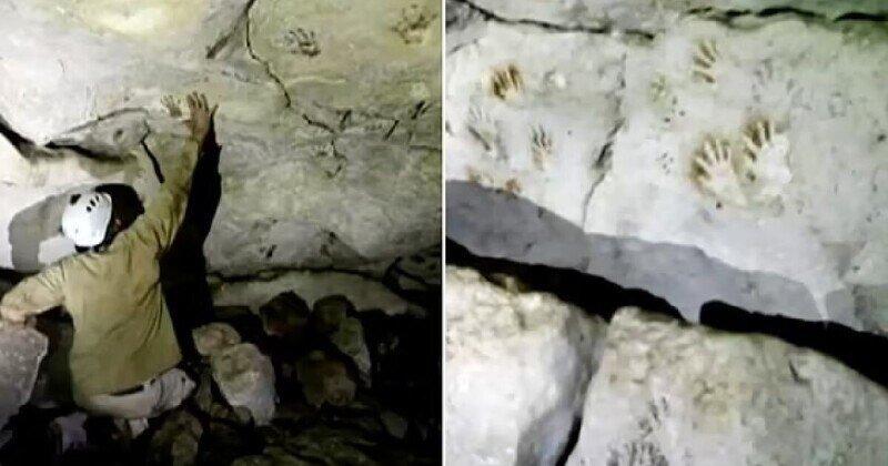На стенах пещеры в Мексике нашли отпечатки детских ладоней