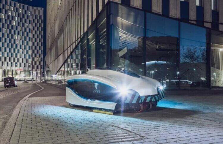 В Финляндии разработан огромный робот-пылесос для уборки улиц