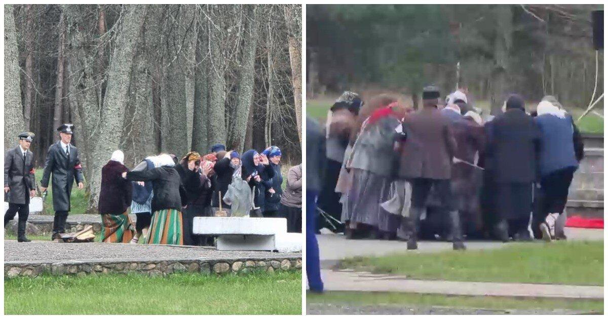 Ко Дню Победы в Белоруссии провели реконструкцию сожжения жителей деревни