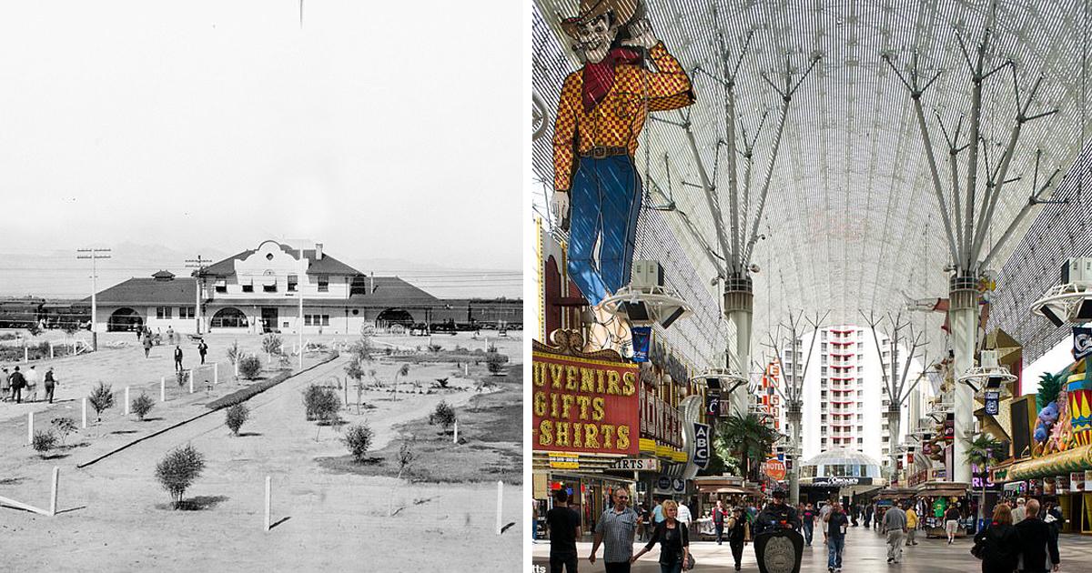 Лас-Вегас тогда и сейчас: от железнодорожного депо до неонового «города грехов»