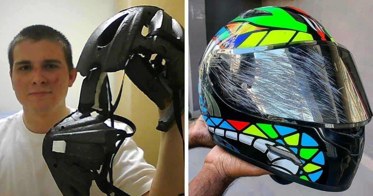 15  наглядных причин, зачем нужен шлем