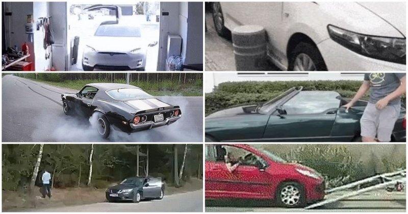 Интересные гифки с автомобилями