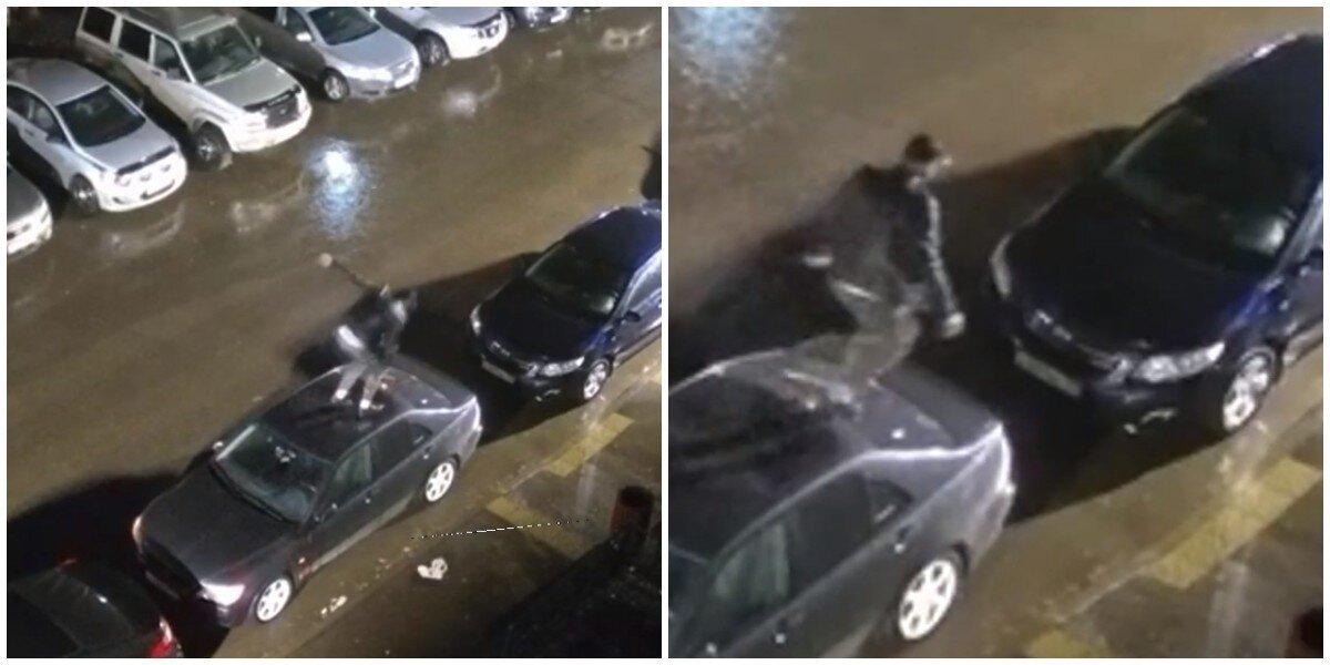В Томске мужчина пробежался про припаркованным иномаркам