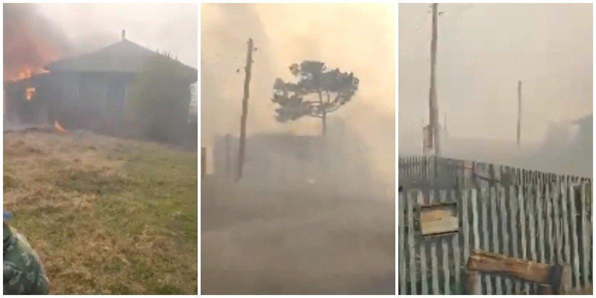 В Омской области пожар уничтожил целую деревню