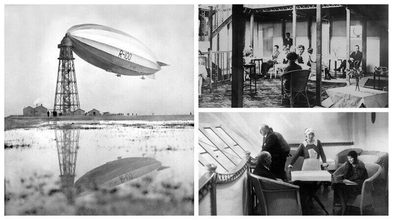 """Дирижабль R-100: британский """"летающий отель"""", 1929-1930 гг"""