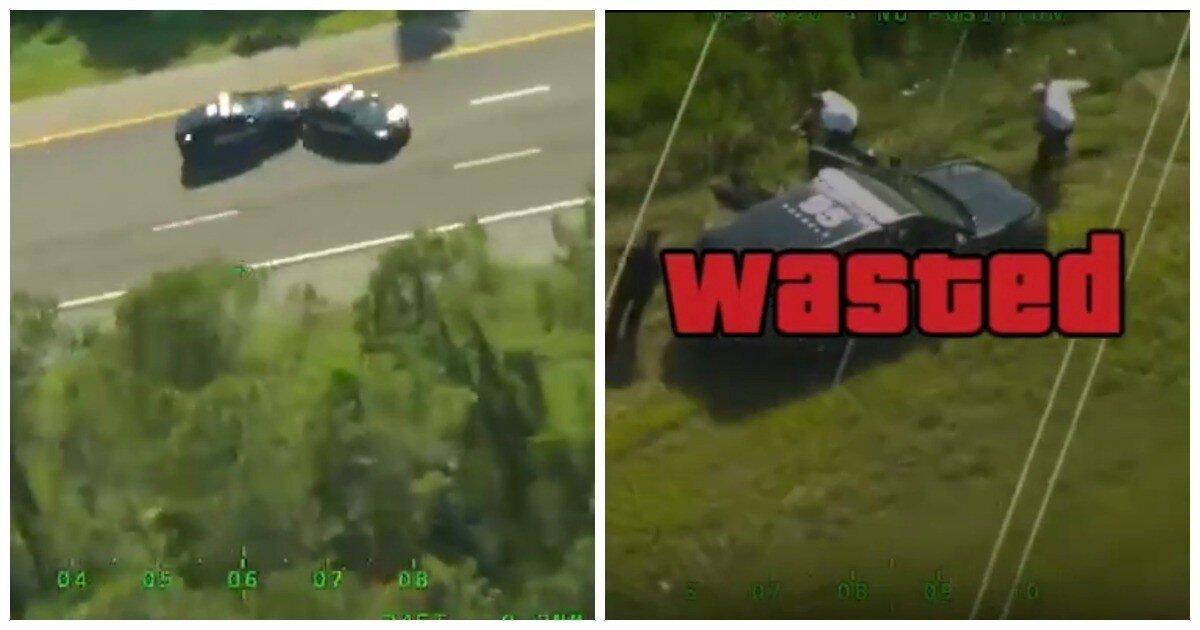 Американец за одну погоню умудрился угнать две полицейские машины
